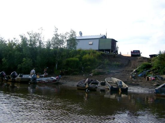 The river bank as we take off to fish