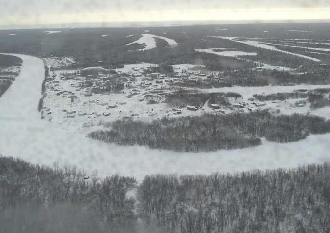 Tuluksak from the air