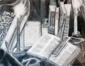 A drawing I did in high school. Graphite.