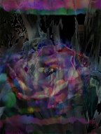 Photoshop Collage. A cactus flower and agave. I like how the agave turned all ghostly.