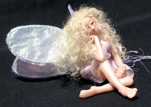 A wee Fairy. About two inches long. Sculpy, Etc.