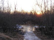 Tuluksak spring flood river