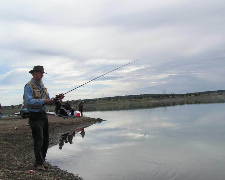 Fr. John fishing