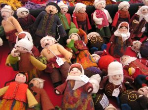 My favorite booth had felt dolls from Kyrgystan - I want to learn how to make these!