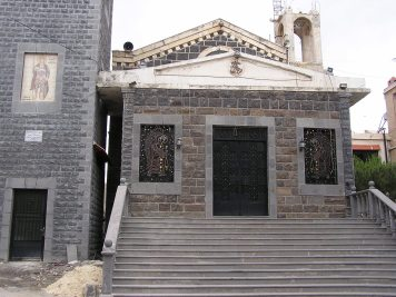 The church next to the bishop's residence in Sweida