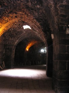 Tunnel behind the amphitheater at Bosra