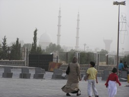 Dust storm at Bosra