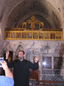St. Nicholas Church with the relics of St. Moses the Black -- the girls even got to go behind the alter!
