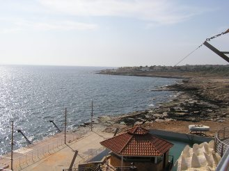 View of the sea from a resterant we ate at