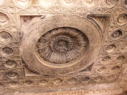 Section of ceiling of temple at palmyra