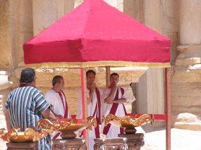 Actors at Amphitheater at Palmyra