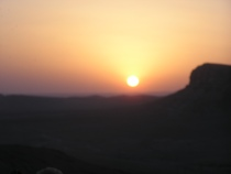 Sunset through dust haze