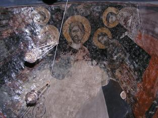 Dome in tomb of St Ilian