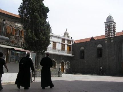 Outside church of St Ilian