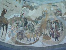 Scene from mosaic depicting revolutionary war