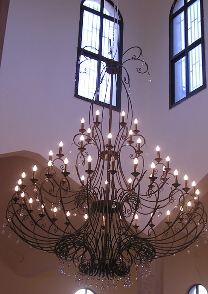 Chandelier at Christ the Savior church where Fr Timon serves