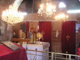 Behind alter at Izra