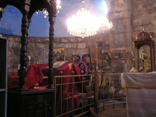 Another view of alter and tomb at St George Church