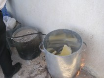 Candlemaking -- melting the wax
