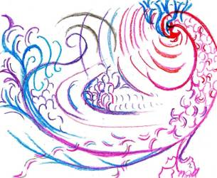 Abstract of a Fancy Rooster