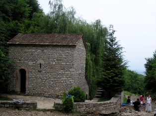The little building over Nino's spring