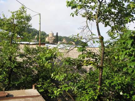 View from the guest house