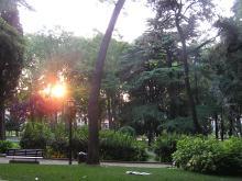 Sitting in the Topkapi park