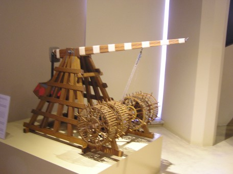 Trebuchet model from the Islamic Math and Science museum