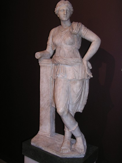 Statue of Athena in the archeological museum