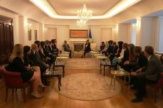 Meeting the President of Kosovo