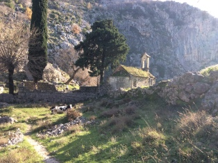 Behind the Kotor fortress
