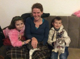 Host kids with neighbor cats