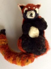 Red Panda with Snowball