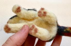 Felt cat paws