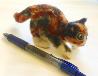 Felt Cat with Pen